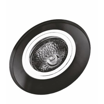Светильник встраиваемый MR16 RIGHT HAUSEN Mirror круг черный HN-276052