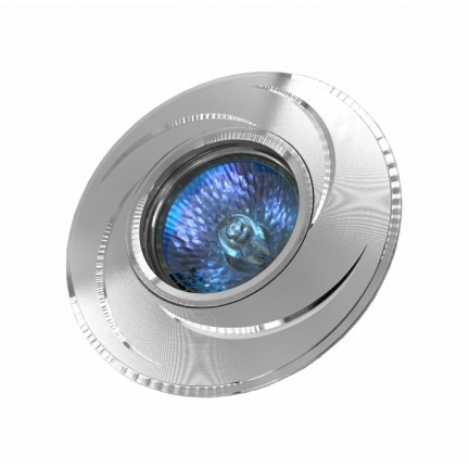 Светильник встраиваемый MR16 RIGHT HAUSEN серебряные полоски хром HN-2760210