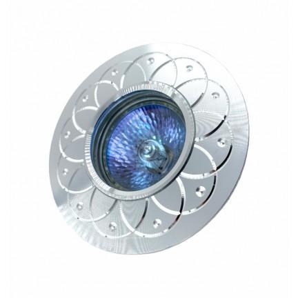 Светильник встраиваемый MR16 RIGHT HAUSEN серебряный рисунок хром HN-2760410