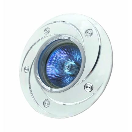 Светильник встраиваемый MR16 RIGHT HAUSEN серебряный узор белый HN-276031