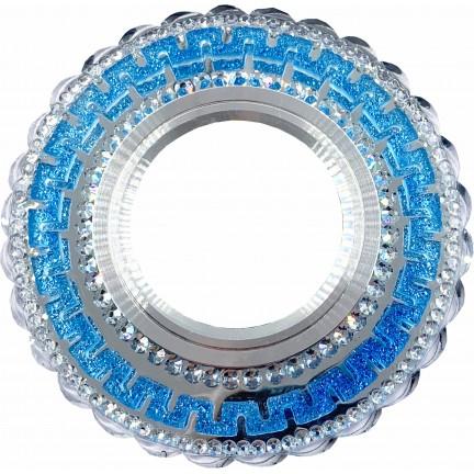 Светильник встраиваемый LED PANEL RIGHT HAUSEN CRYSTAL 7 MR16+3W LED 4000K BLUE HN-275092 NEW