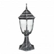 Светильник парковый RIGHT HAUSEN (металл / античное серебро) 6 округлых граней 60W E27 НА ПОДСТАВКЕ