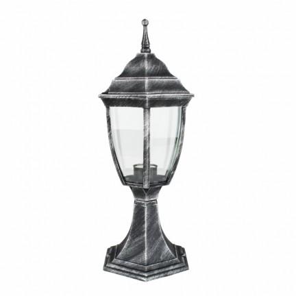 Светильник парковый RIGHT HAUSEN (металл/античное серебро) 6 округлых граней 60W E27 НА ПОДСТАВКЕ