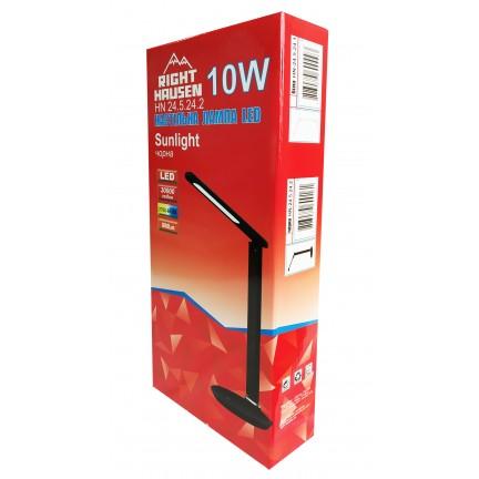 Настольная лампа RIGHT HAUSEN LED SUNLIGHT 10W черная HN-245242 NEW