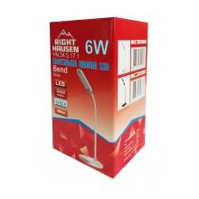 Настольная лампа RIGHT HAUSEN LED BEND 6W белая HN-245171