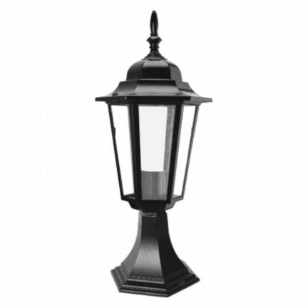Светильник парковый RIGHT HAUSEN (металл/черный) 6 прямых граней 60W E27 НА НОЖКЕ HN-193042