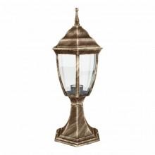 Светильник парковый RIGHT HAUSEN (металл / античное золото) 6 округлых граней 60W E27 НА ПОДСТАВКЕ