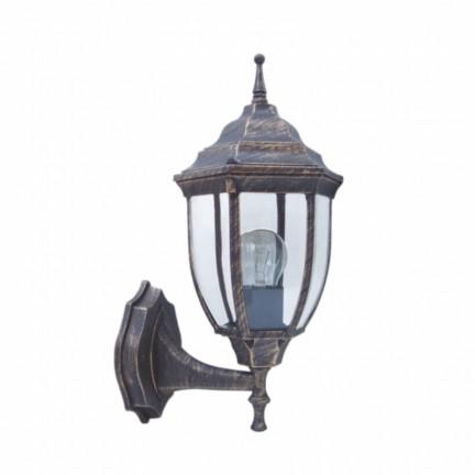 Светильник парковый RIGHT HAUSEN (металл/античное золото) 6 округлых граней 60W E27