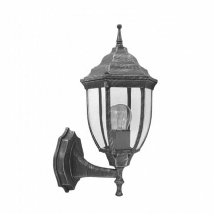 Светильник парковый RIGHT HAUSEN (металл/античное серебро) 6 округлых граней 60W E27 ВВЕРХ