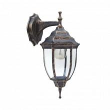 Светильник парковый RIGHT HAUSEN (металл / античное золото) 6 округлых граней 60W E27 ВНИЗ