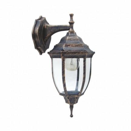 Светильник парковый RIGHT HAUSEN (металл/античное золото) 6 округлых граней 60W E27 ВНИЗ