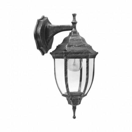 Светильник парковый RIGHT HAUSEN (металл/античное серебро) 6 округлых граней 60W E27 ВНИЗ