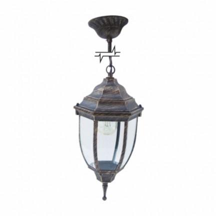 Светильник парковый RIGHT HAUSEN (металл/античное золото) 6 округлых граней 60W E27 ЦЕПЬ