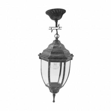 Светильник парковый RIGHT HAUSEN (металл/античное серебро) 6 округлых граней 60W E27 ЦЕПЬ