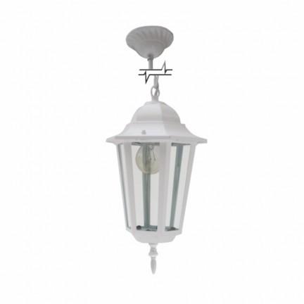 Светильник парковый RIGHT HAUSEN (металл/белый) 6 прямых граней 60W E27 ЦЕПЬ