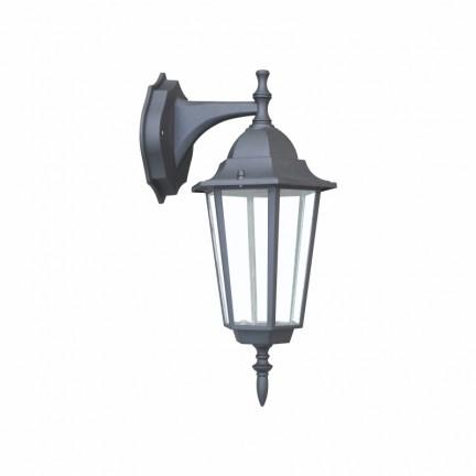 Светильник парковый RIGHT HAUSEN (металл/стекло/черный) 60W E27 (вниз)