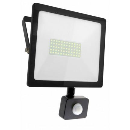 Прожектор RIGHT HAUSEN SOFT LED 50W 6500K IP65 черный с датчиком движения HN-191142