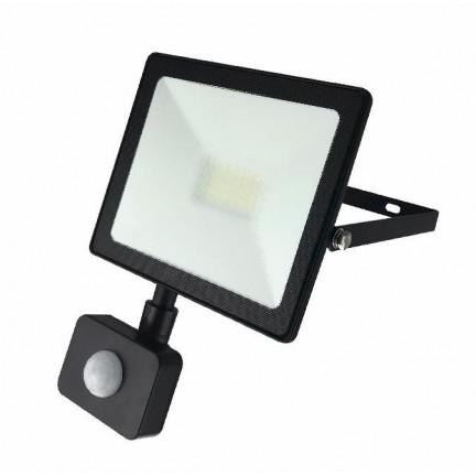 Прожектор RIGHT HAUSEN STANDARD LED 20W 6500K IP65 черный с датчиком движения PR HN-191062
