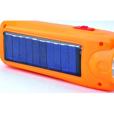 Фонарик ручной с аккумулятором и солнечной панелью 1027 Т SV