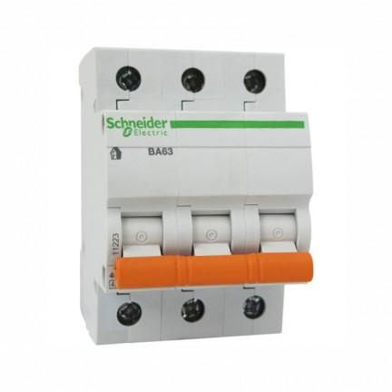 Автоматический выключатель SCHNEIDER ВА63 3Р 40А 3 полюса С 11227
