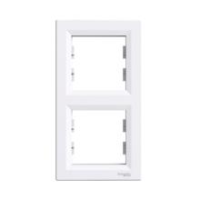Рамка SCHNEIDER ASFORA 2-я вертикальная белая ЕРН5810221