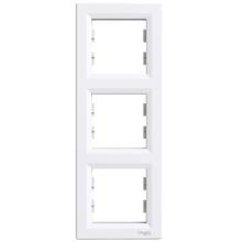 Рамка SCHNEIDER ASFORA 3-я вертикальная белая ЕРН5810321