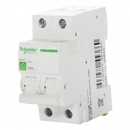 Автоматический выключатель SCHNEIDER RESI9 2Р 20А С R9F12220