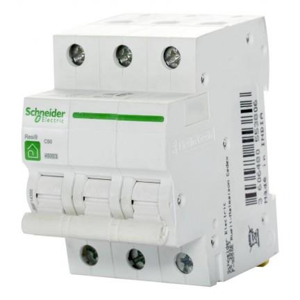 Автоматический выключатель SCHNEIDER RESI9 3Р 63А С R9F12363