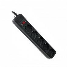 Фильтр Maxxtro компьютерный черный (4,5м) 5м, 5 розеток