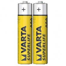 Батарейка VARTA SUPERLIFE R-03 AAА FOL 2