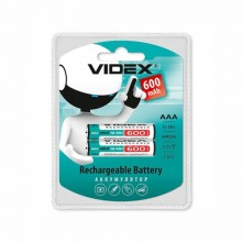 Аккумулятор VIDEX HR03/AAA R03, 600 mAh blister/2 pcs