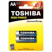 Батарейка TOSHIBA ALKALINE LR6 HP блистер ВР 1х2