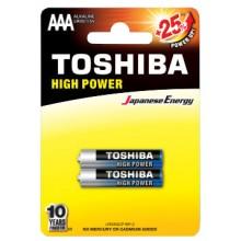 Батарейка TOSHIBA ALKALINE LR03 HP блистер ВР 1х2