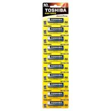 Батарейка TOSHIBA ALKALINE LR6 HP блистер ВР 1х10